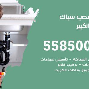 فني سباك صحي مبارك الكبير